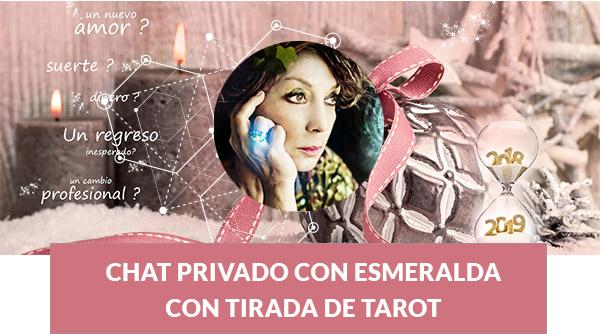 Chat privado con Esmeralda con tirada de Tarot